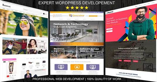 I will Design and Develop WordPress Responsive 6 to 8 Pages Website