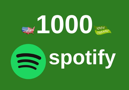 I will get you 1000 REAL plays on Spotify