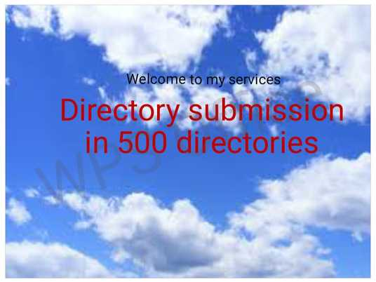 I will Post your website in 500 directories