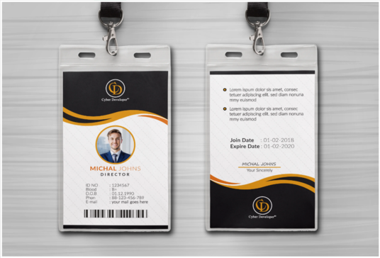 I will Design Premium Quality Modern And Unique Id Cards, Templates