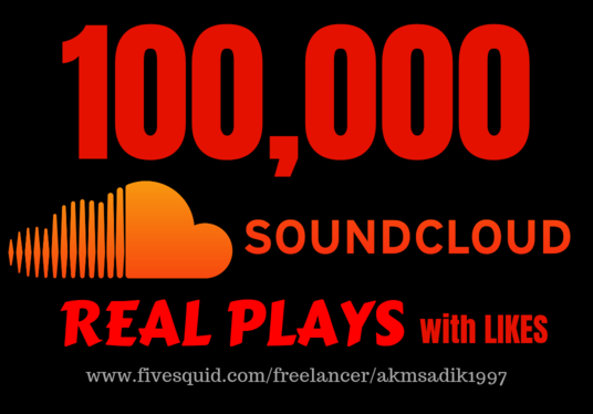 I will bring 100,000 Real SoundCloud Plays with likes