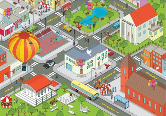 I will Draw A Beautiful Vector Or Isometric Map Illustration