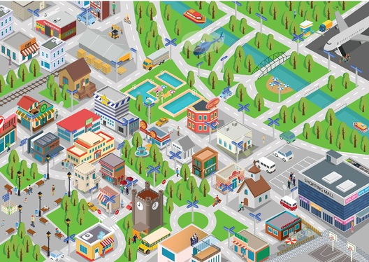 Draw A Beautiful Vector Or Isometric Map Illustration