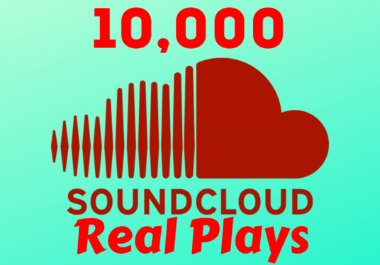 I will bring 10,000 Real SoundCloud Plays  in quick time