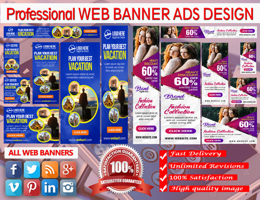 I will Create Professional Banner Ads Design and Web banner