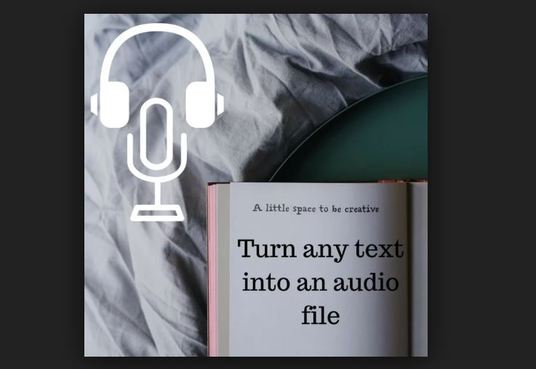 I will Digitally Convert Your  Ebook 15000 Text Into Audio Book