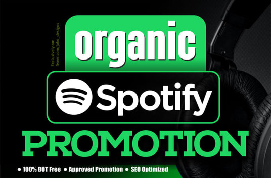 I will do organic Spotify  Music Promotion