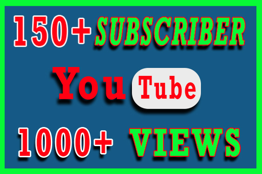 I will Provide 150+ Organic YouTube Subscriber & and 1000+ Views