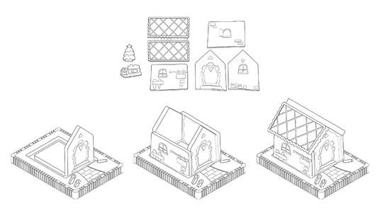 draw illustrations for your assembly manual - A4 format