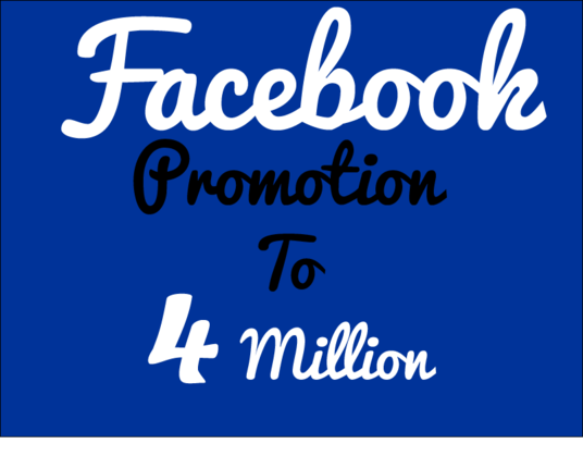 I will do facebook promotion to 4 million audience
