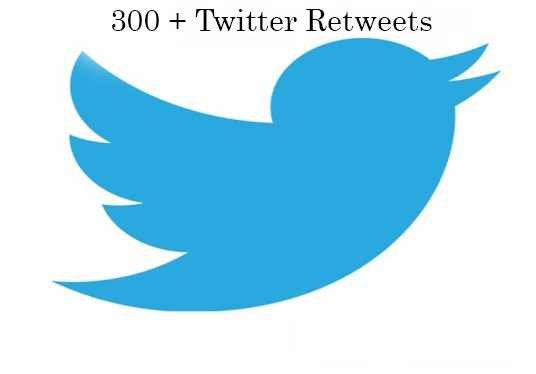 I will Do 300 Twitter Retweets + 200 Favorites