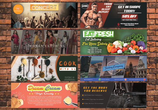 I will design Facebook and Social Media Banner for you