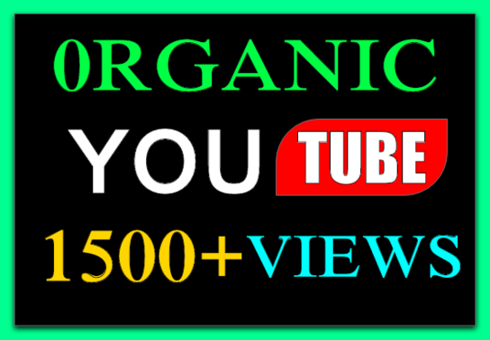 I will Promote 1500+ Organic Youtube Video Views