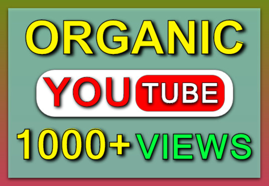 I will provide 1000+ Organic Youtube Video Views