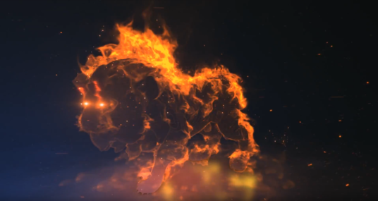 make Lion Fire Logo Reveal powerful intro animation