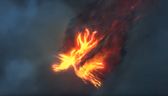 cccccc-make Phoenix Bird fire Logo Reveal powerful intro animation
