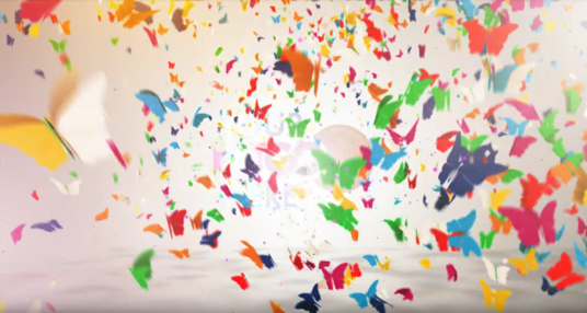 I will make Beauty Butterfly Colorful Logo Reveal video intro animation