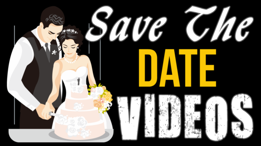 create a save the date wedding announcement video