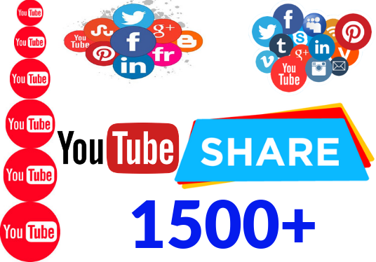I will provide 1,500+  Shares of your Youtube Video, Non-Drop All shares are from real accounts