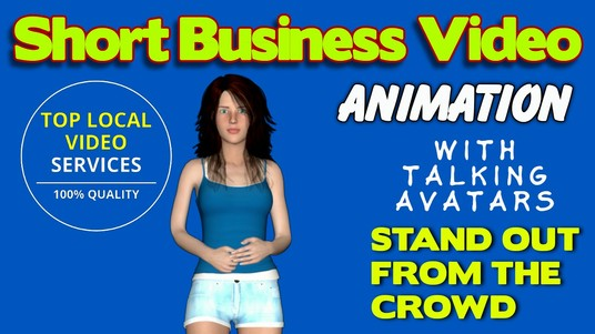 I will create a short business service animation sales video with voice over