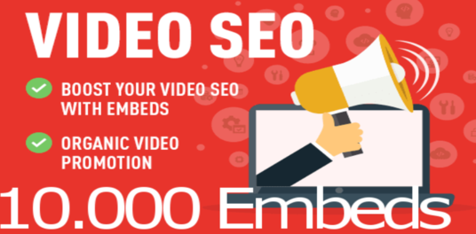 I will send 10,000 YouTube Embeds and Signals on 1000 Blogs and 50 PR9 Social Sites for your vide