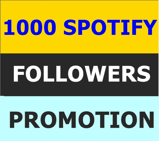 I will provide 1000 Spotify Followers