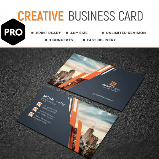 I will design 3 eye catching business card concepts