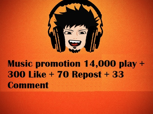 I will  Promote your SoundCloud with 14,000 play + 300 Like + 70 Repost + 33 Comment