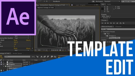 edit any after effects template with in 24 hours