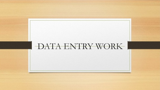 I will do  Data Entry job