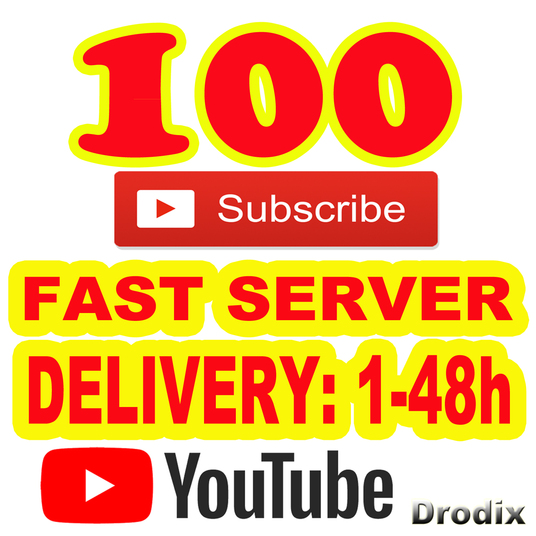 I will Add for You 100 Real YouTube Subscribers Non Drop  Fast Server