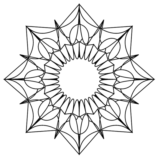 I will make you 200 high quality mandala coloring pictures vectorised