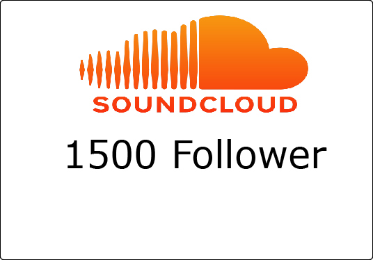 I will give you 1500 sound cloud follower