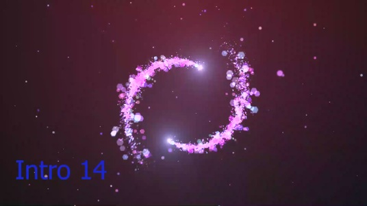 create beautiful particles logo intros