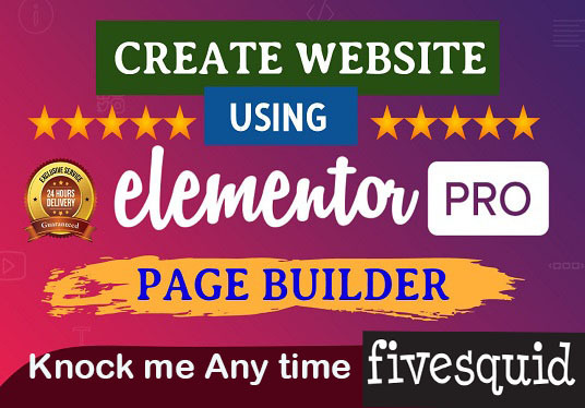 I will Create  Attractive  Website or Business  Landing Page by Elementor Page Builder