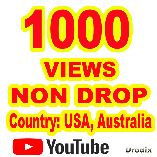 I will provide 1000 Views YouTube Non Drop  - USA, Australia