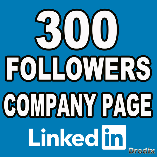 I will I give you 300 real Linkedin followers on company pages
