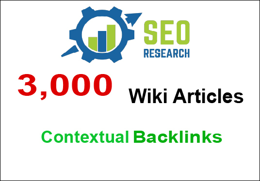 I will do Unlimited contextual Wiki Backlinks from 3,000 Wiki Articles