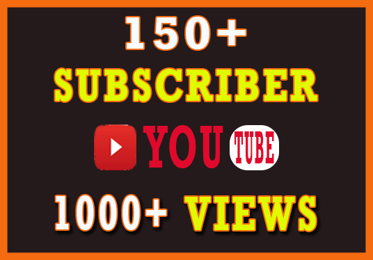 I will Provide 150+ Organic YouTube Subscriber and 1000+ Views