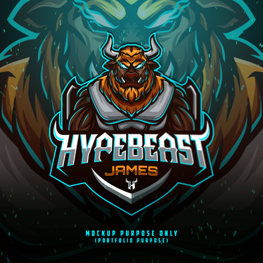 design esports, mascot, gaming, sports, twitch logo