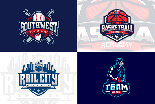 I will design basketball, football, baseball and other sports logo