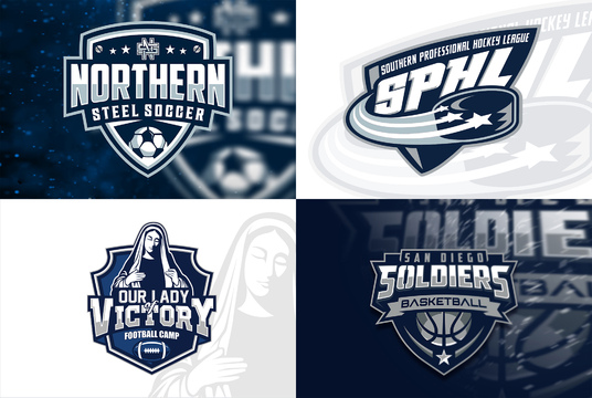 design basketball, football, baseball and other sports logo