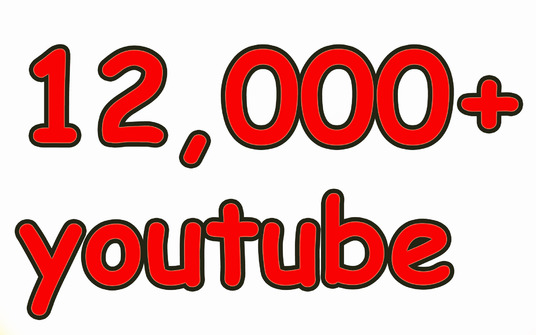 I will Give you  12,000 YouTube Views with High Quality, Non Drop, Fast and Safe