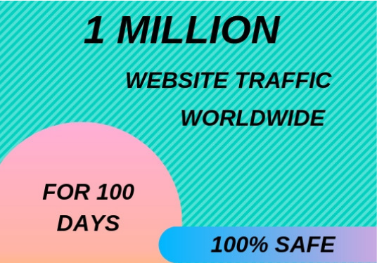 I will drive 1 Million  Website Traffic  for 100 Days