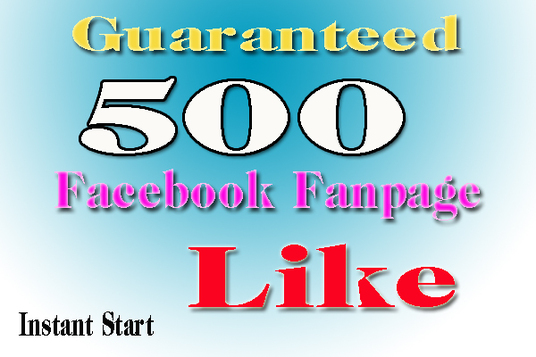 I will Give 500 Permanent Facebook Like To Your Fanpage