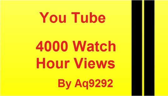 I will provide 4000  watch time views on you tube