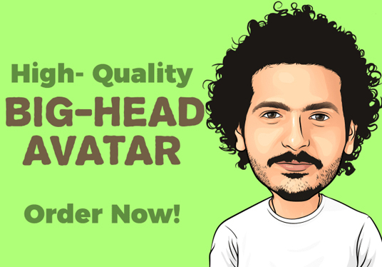 I will Draw Big Head Avatar With Fast Delivery