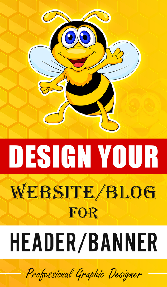 I will Design An Attractive Header/Banner Image For Your Website Or Blog