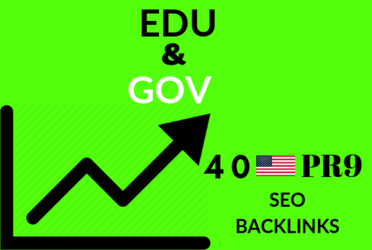 I will Do 40 Pr9  with 30 Edu Gov High Trust Authority Safe SEO Backlinks