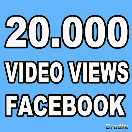 I will Provide 20.000 Facebook Video Views